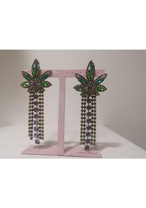 LisaC Swarovski stones weed earrings Lisa C. Bijoux | Earrings | NICE TRIP-