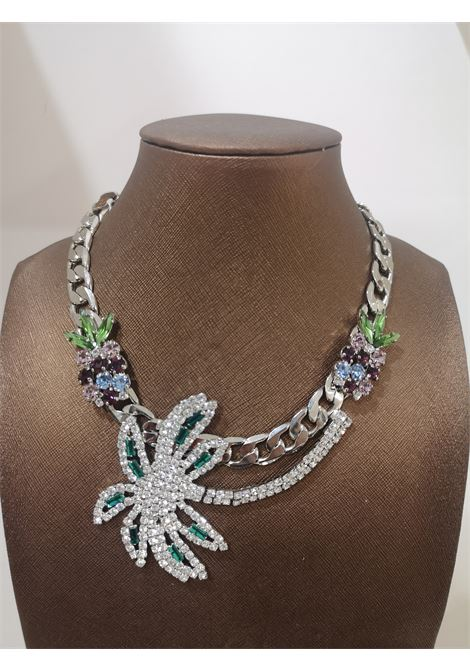 LisaC palm pineapple swarovski necklace Lisa C. Bijoux | Collana | PALM-