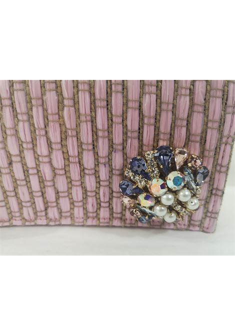 LisaC pink rafia swarovski Shoulder bag / Fanny pack Lisa C. Bijoux | Borsa | ROSA-