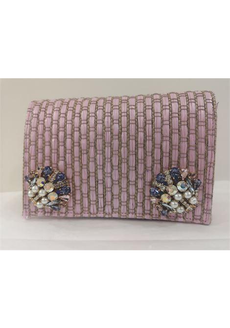 LisaC pink rafia swarovski Shoulder bag / Fanny pack Lisa C. Bijoux | Bags | ROSA-