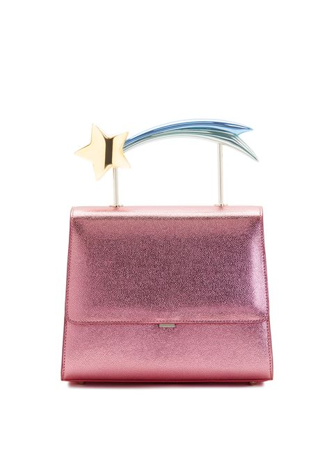 Supernova Fucsia leather comet handle bag Ming Ray | Bags | SUPERNOVAFUCSIA