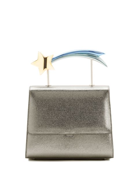 Supernova Grey  leather comet handle bag Ming Ray | Bags | SUPERNOVAPEWTER