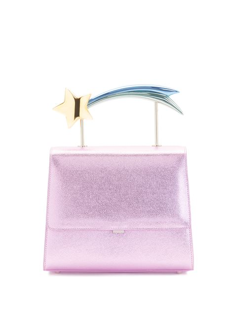 Supernova pink  leather comet handle bag Ming Ray | Bags | SUPERNOVAPINK