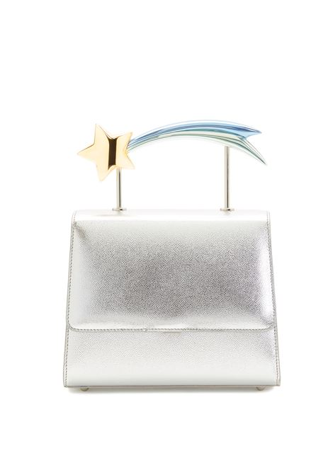 Supernova silver  leather comet handle bag Ming Ray | Bags | SUPERNOVASILVER