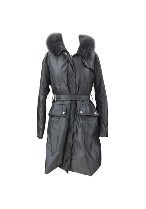 Moncler grey with fur jacket / coat Moncler | Coats | BF01925X0SX01PIUMINO