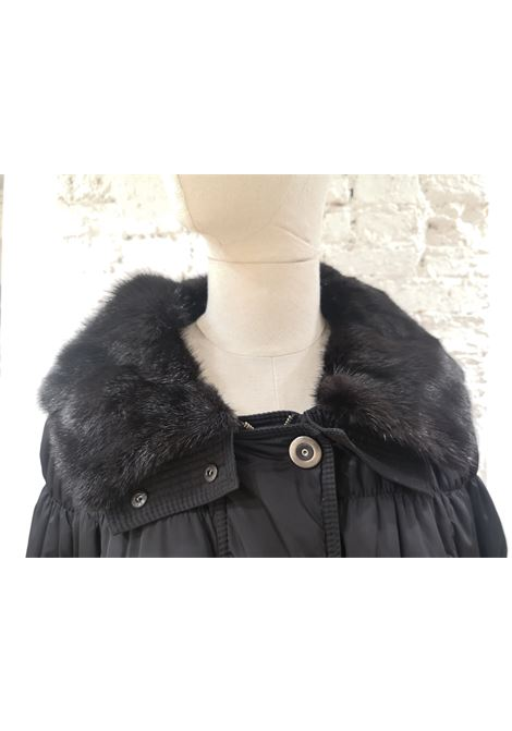 Moncler grey with fur jacket / coat Moncler | Cappotto | BF01925X0SX01PIUMINO