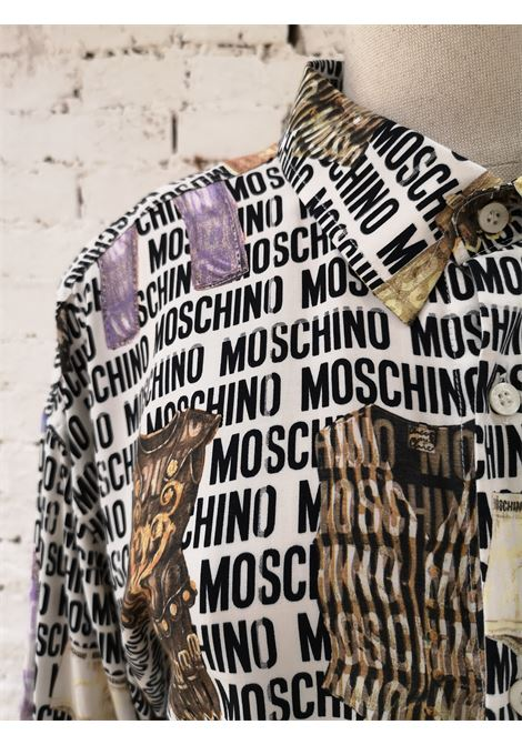 Moschino Logo Items Cotton Shirt Moschino | Camicia | LOGO -SLIP