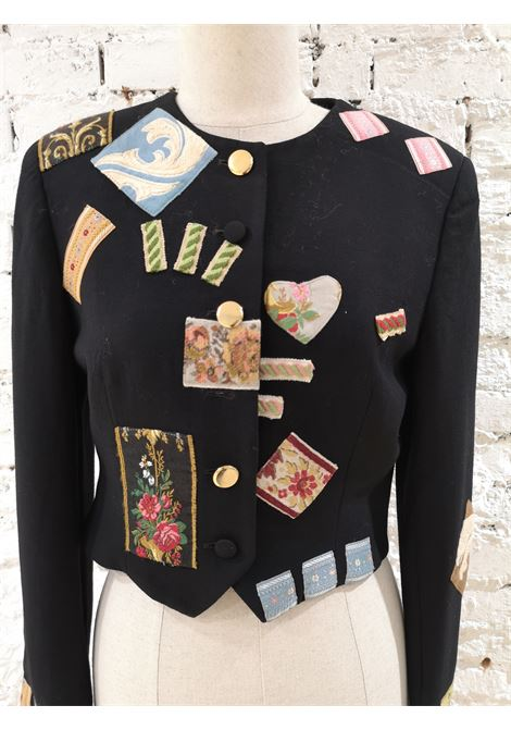 Moschino Patches black jacket moschino | Jacket | PATCHESMULTIU