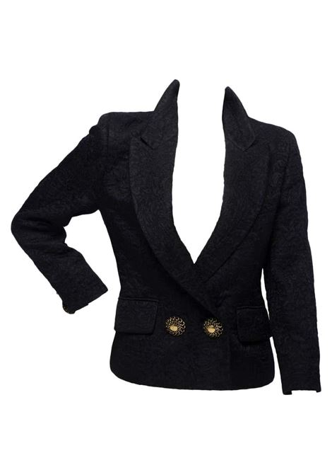 1980s Moschino Couture black jacket with sun buttons. Moschino | Jackets | SD01910XSAMARRONE