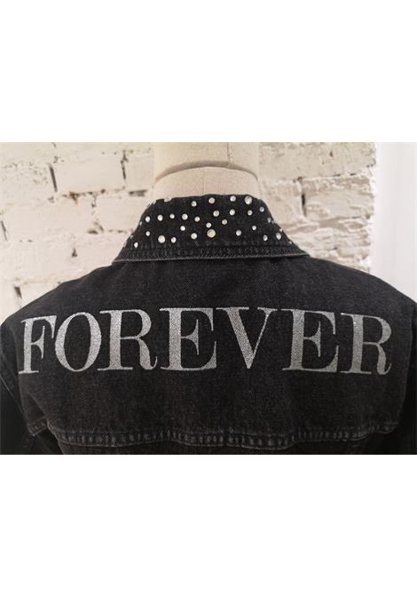 Moschino Black Denim Forever with Crystal  Moschino | Jackets | SD01950XSDENIM