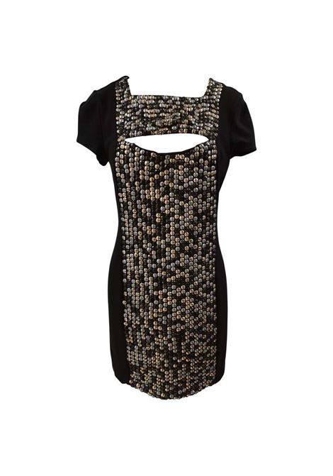 Paola Frani Black silk studs dress Paola Frani | Dresses | EC01915X0SANERO
