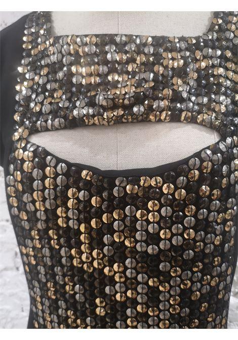 Paola Frani Black silk studs dress Paola Frani | Abito | EC01915X0SANERO