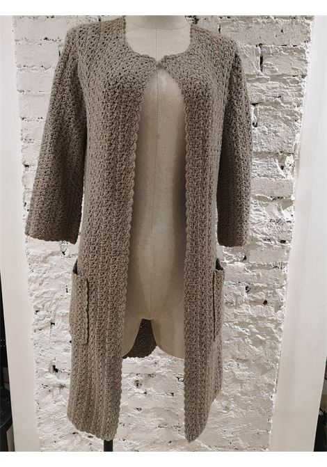 P.A.R.O.S.H beige knit cotton long coat / sweater  P.a.r.o.s.h | Cardigan Sweaters | BL01970XSZCINTA