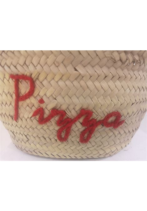 Pizza rafia handbag Poolside bag | Bags | MINI MARKETPIZZA