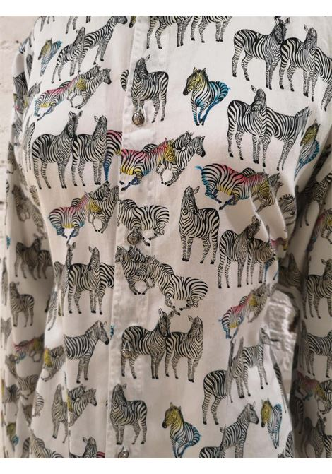 Gianni Versace White Zibra cotton Shirt Versace | Camicia | SD019175XSDSZZEBRA