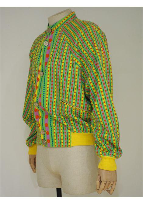 Gianni Versace yellow green fucsia psychedelic bomber Versace | Jackets | SZ01922S0ZAA.-