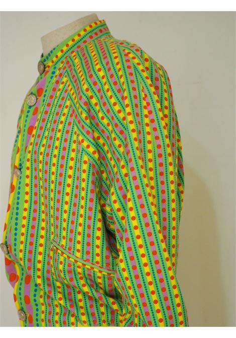 Gianni Versace yellow green fucsia psychedelic bomber Versace | Bomber | SZ01922S0ZAA.-