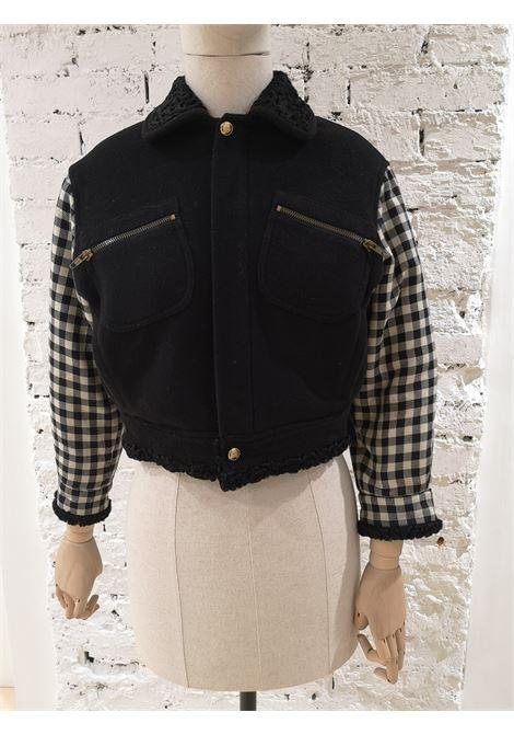 Gianni Versace pied de poule black jacket Versace | Giacca | VXR01950EXSFGGLITTER