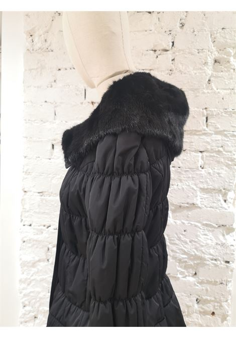 De Santis black collar long coat / bomber VIntage | Cappotto | BF019250XS00NERO