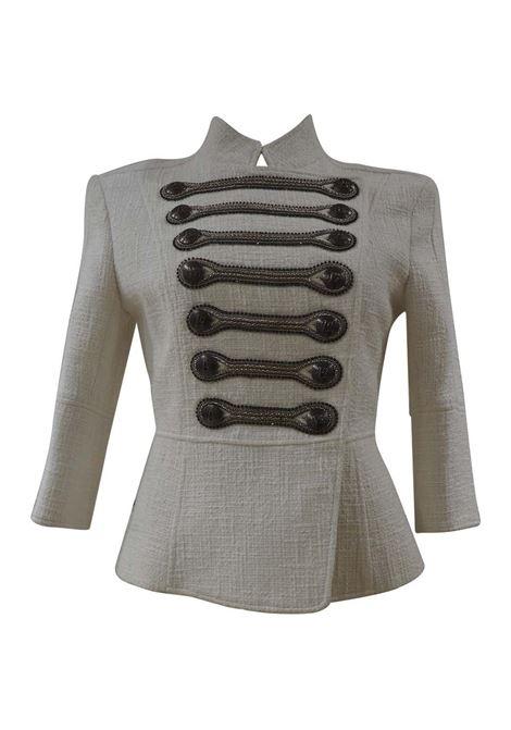 Pierre Balmain military-inspired white jacket Balmain | Giacca | FO020XV70X0G-