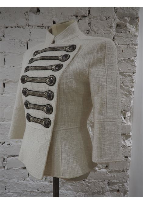 Pierre Balmain military-inspired white jacket Balmain | Jackets | FO020XV70X0G-