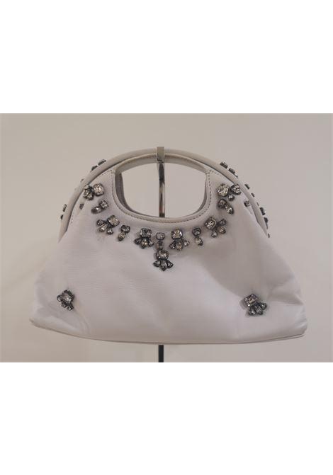 Borbonese white leather swarovski handbag Borbonese | Borsa | AT02080XS0DBORBONESE