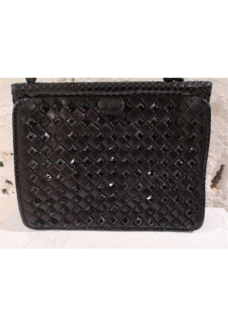 Bottega Veneta black python skin beads pochette / handbag Bottega Veneta | Borsa | AT020XSFC85S0GNERO
