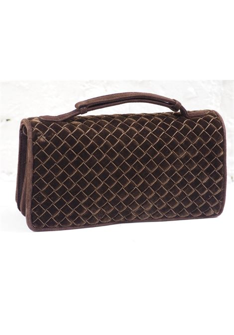 Bottega Veneta brown velvet pochette BOTTEGA VENETA | Bag | AT020XSFG45VS0VELLUTO