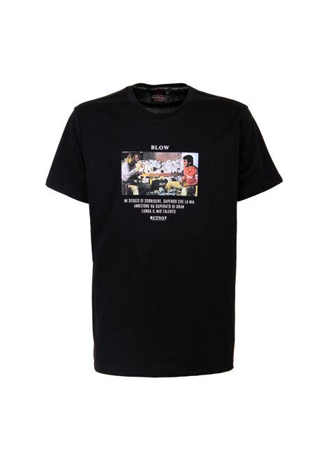 Butnot cotton T-shirt BUTNOT | T-Shirt | U901-BLOW2NERO BIANCO