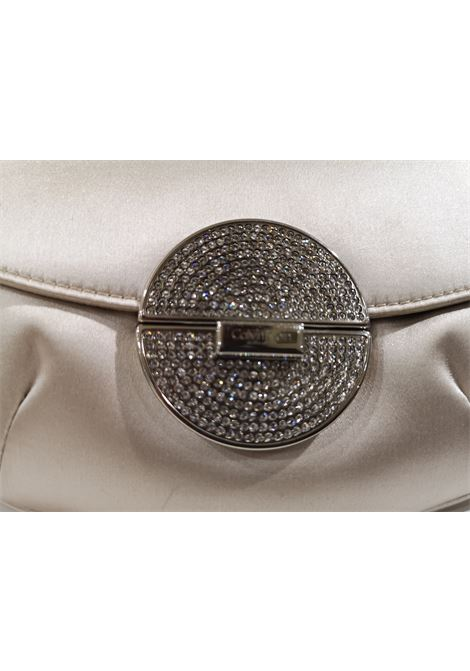 Calvin Klein white silk small pochette Calvin Klein | Pochette | AT020XSSS12WC0SWAROVSKI