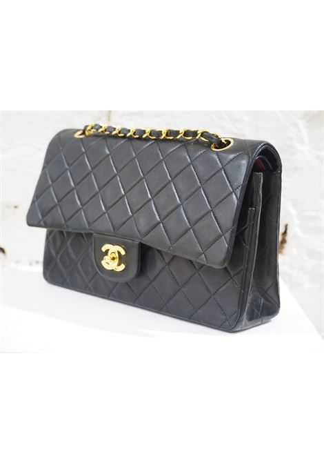 Chanel 2.55 black leather shoulder bag CHANEL | Bag | 2.55NERO