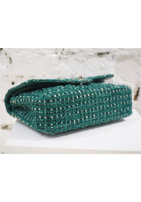 Chanel 2.55 green tweed shoulder bag CHANEL | Bag | 2.55VERDE