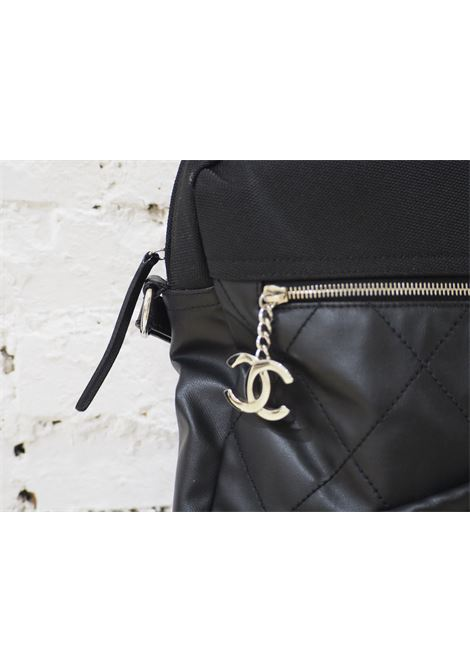 Chanel black leather textile shoulder bag / backpack CHANEL | Backpack | AT020CD12XSDFG50PELLE