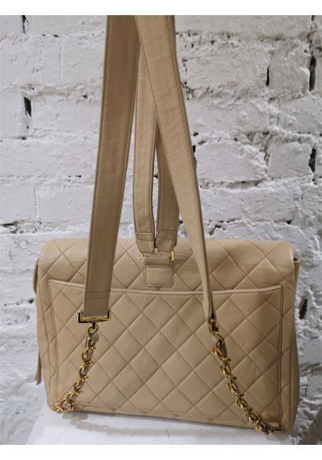 Chanel beige leather backpack Chanel | Zaino | AT020XS26CSGB50BEIGE