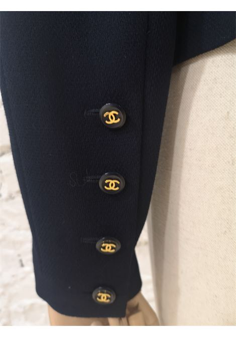 Chanel blue CC logo buttons wool jacket Chanel | Jackets | BLU DOPPIO PETTO10 BOTT