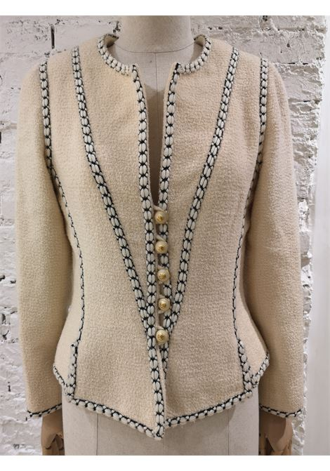 Chanel white wool jacket Chanel | Jackets | CATENEVINTAGE
