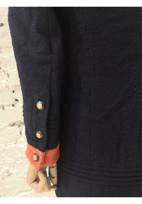Chanel blue orange wool blazer / jacket Chanel | Jackets | GIACCA BLUBLU ARANCIO