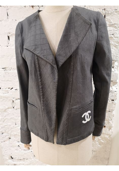 Chanel grey CC painted jacket Chanel | Jackets | JEANSDIPINTO