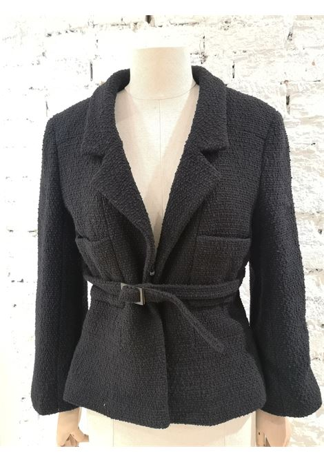 Chanel black wool with belt jacket Chanel | Jackets | NERA CON CINTURA-