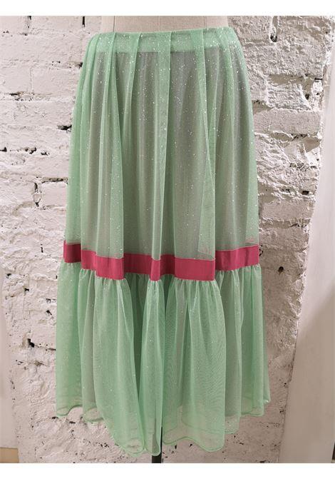 Chelidonia Green glitter long skirt Chelidonia | Skirts | AURELIAMENTA
