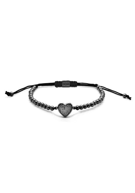 Chevalier Project Black Gold Heart bracelet Chevalier Project | Bracciale | C116BLACK