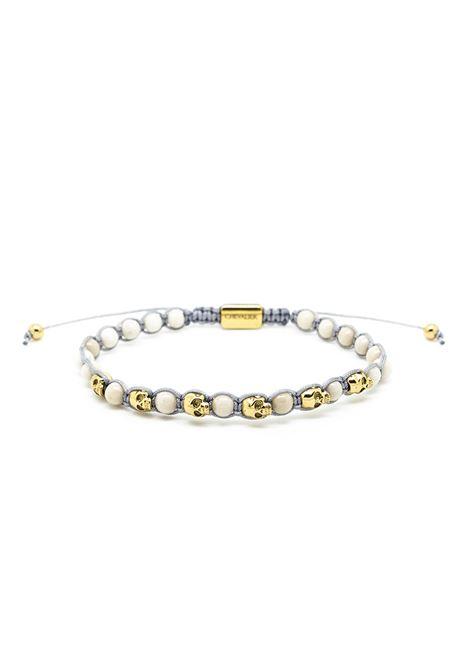 Chevalier Project 4mm white skull bracelet Chevalier Project | Bracciale | M112WHITE GOLD