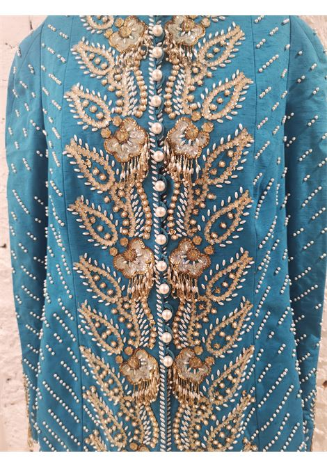 Christian Dior turquoise pearls beads sequins jacket CHRISTIAN DIOR | Jacket | AT020XASDD450ECSPERLE