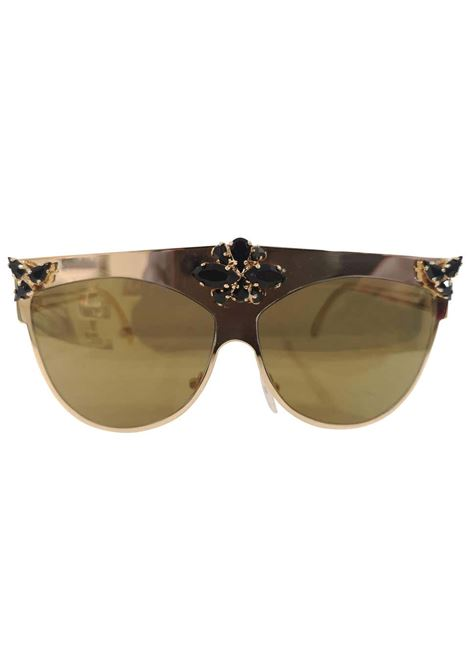 D Style gold mirrored black swarovski sunglasses D style | Sunglasses  | GOLD-