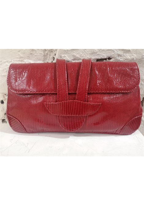 Dotti red snakeskin leather clutch Dotti | Pochette | AT020XS200CSRETTILE