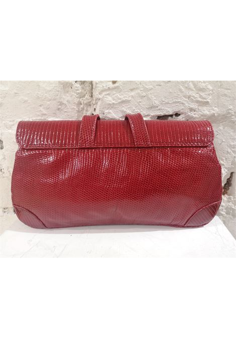 Dotti red snakeskin leather clutch Dotti | Pochette | AT020XS200CSRETTILE