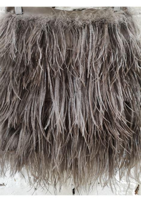 Elisabetta Franchi grey feathers skirt Elisabetta Franchi | Gonna | FO020XS8CS0FGVFIUMA