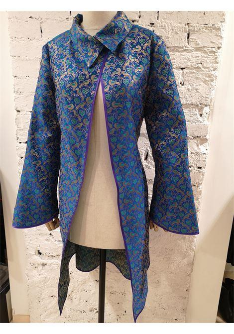 Ermetique blue gold kimono trench Ermetique | Trenchs | ETNOBIRDS