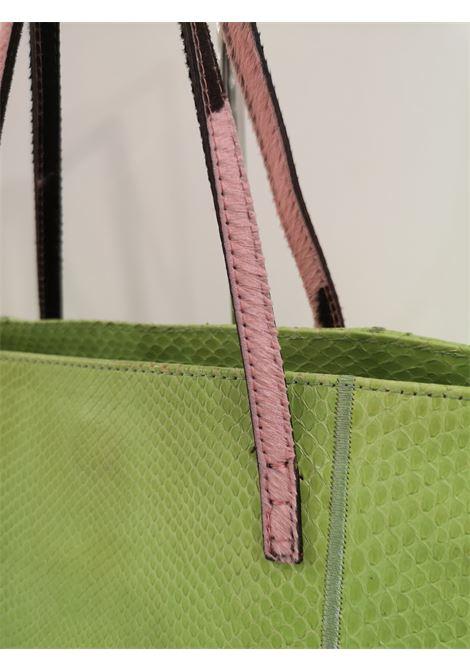 Fendi green python skin pony hair handle shoulder bag Fendi | Borsa | AT020XSAFR35VSS0VERDE