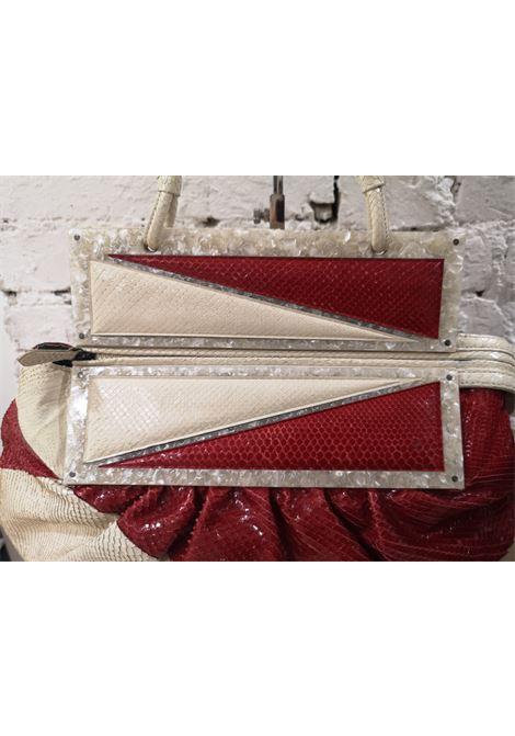 Fendi python skin cream and red shoulder bag Fendi | Borsa | AT020XSF25VS0RCFBIANCO ROSSO